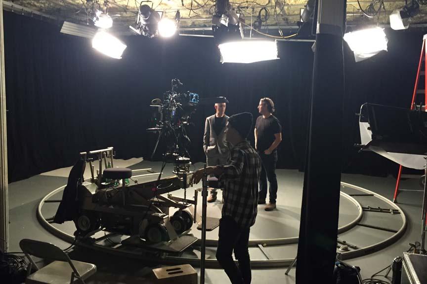 camera track studio shoot