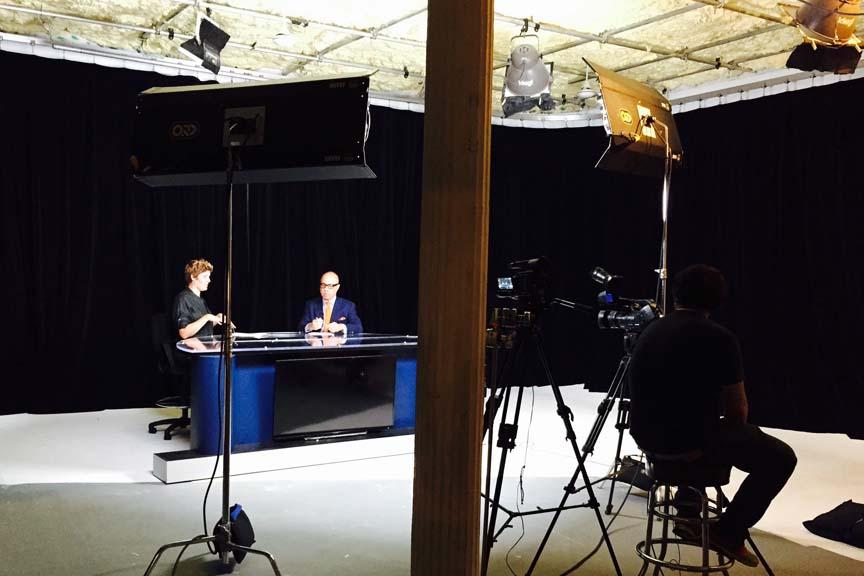 news desk studio shoot