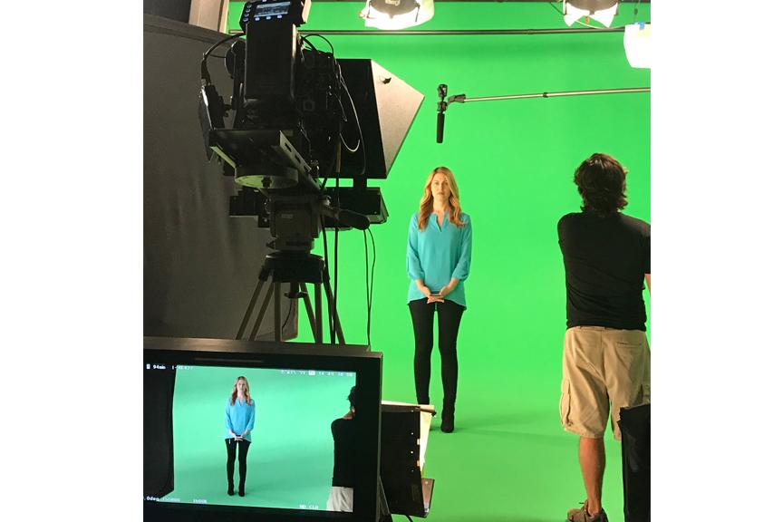 Green Screen Studio shoot